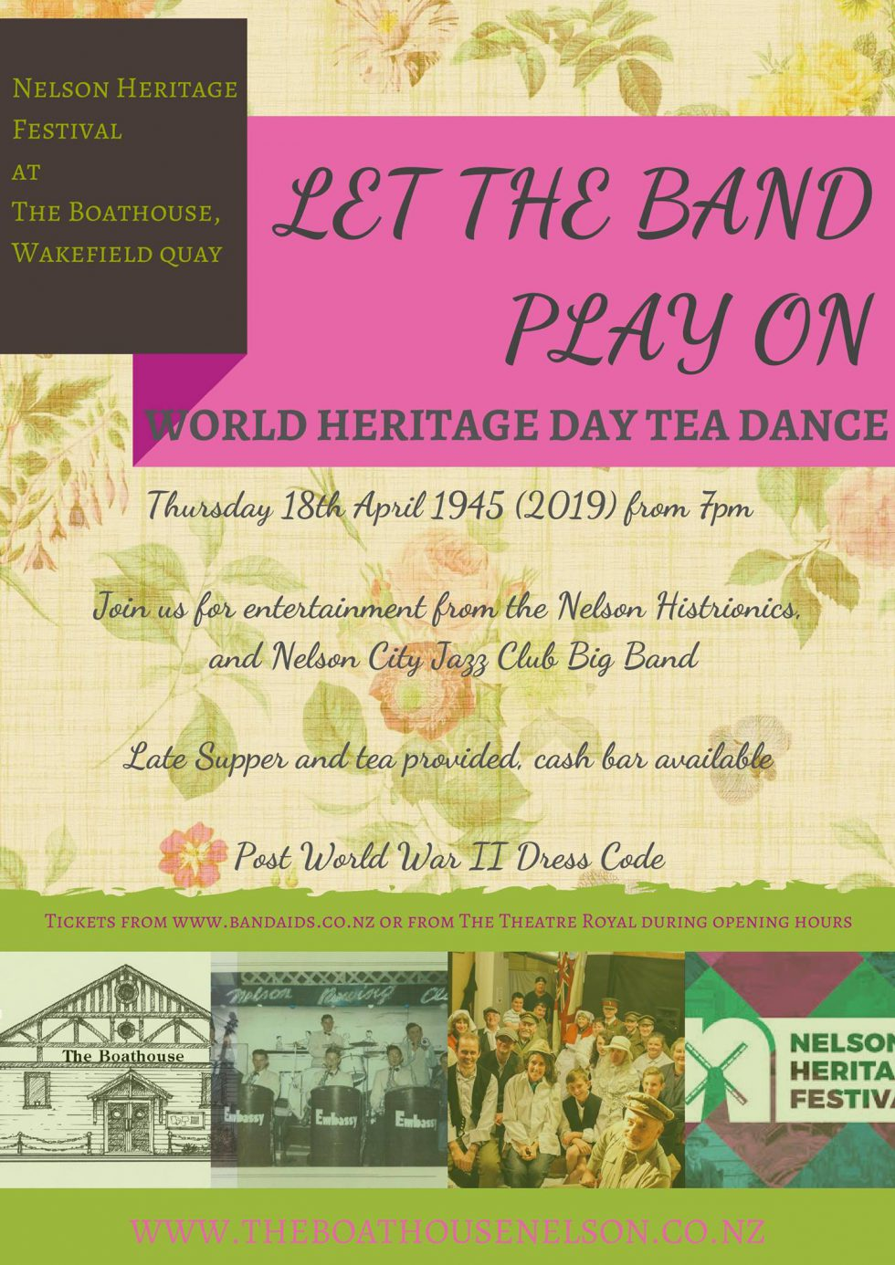 Let The Band Play On! The World Heritage Day Tea Dance 🗓