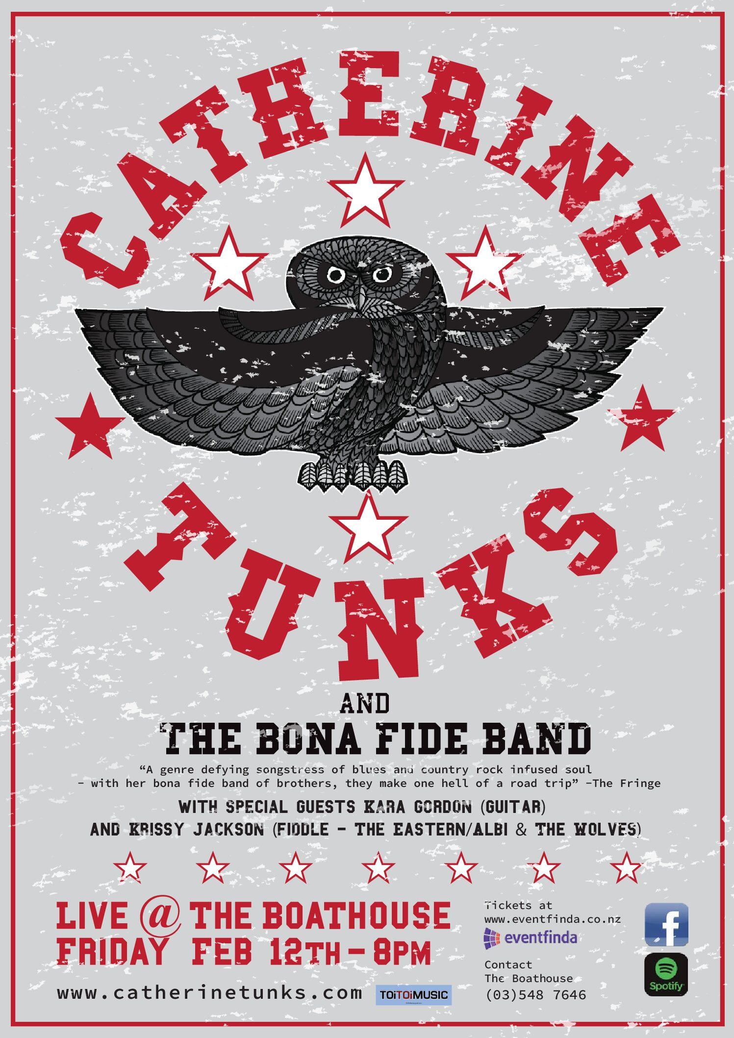 Catherine Tunks With Her BonaFide Band 🗓